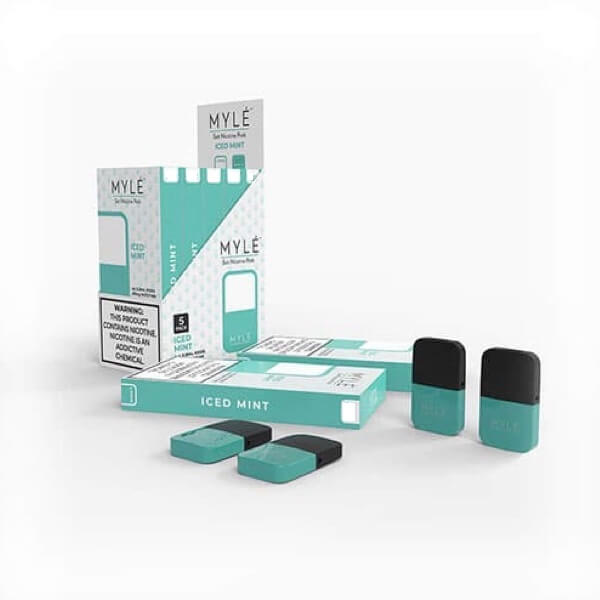 Iced Mint 5% Vape Pods 5 Pack by MYLÉ