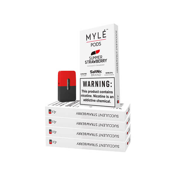Summer Strawberry Vape Pods 5 Pack by MYLÉ