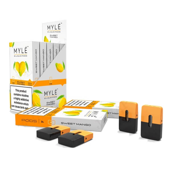 Sweet Mango 2% Vape Pods 5 Pack by MYLÉ